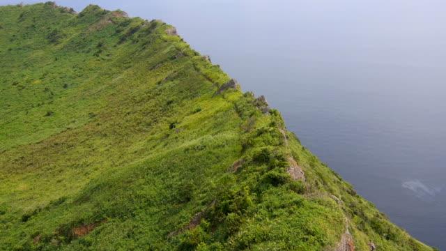 Aerial View of Seongsan Ilchulbong Tuff Cone