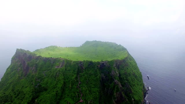 Aerial view of Seongsanilchulbong cliff (UNESCO World Heritage Site)