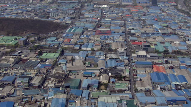 aerial view of seongseo inudustrial complex in daegu - daegu stock videos and b-roll footage