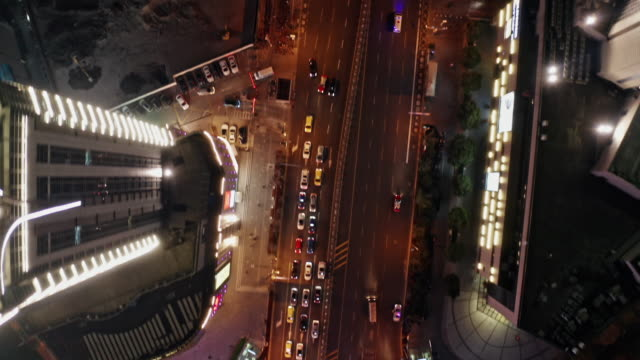 aerial view of shanghai highway at night - china east asia stock videos & royalty-free footage