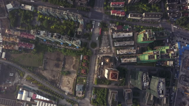 aerial view of shanghai pudong district - china east asia stock videos & royalty-free footage