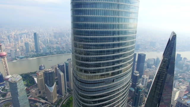 aerial view of shanghai tower/shanghai.china. - shanghai tower stock videos & royalty-free footage