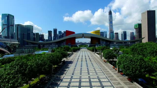 Luchtfoto van Shen Zhen stad
