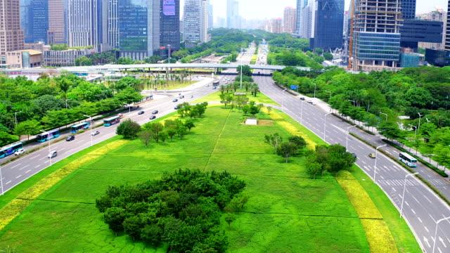 Aerial view of Shen Zhen City