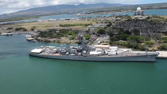 aerial view of ships moored at joint base pearl harborhickam and oahu during rim of the pacific exercise 2014 the world's largest international... - 演習点の映像素材/bロール