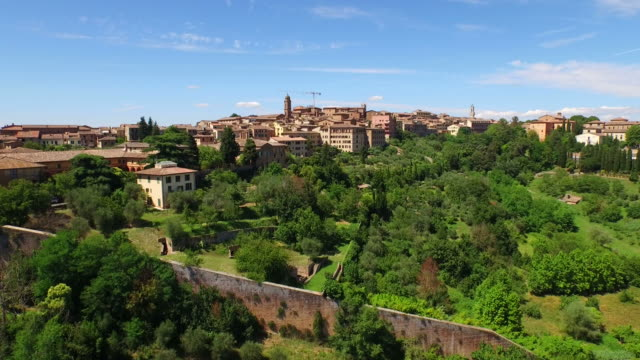 aerial view of siena area in italy - siena italy stock videos and b-roll footage