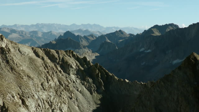 Aerial View Of Sierra Nevada Mountain Pass