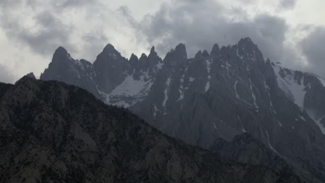 aerial view of sierra nevada mountain peaks, california, united states of america. - californian sierra nevada stock videos & royalty-free footage