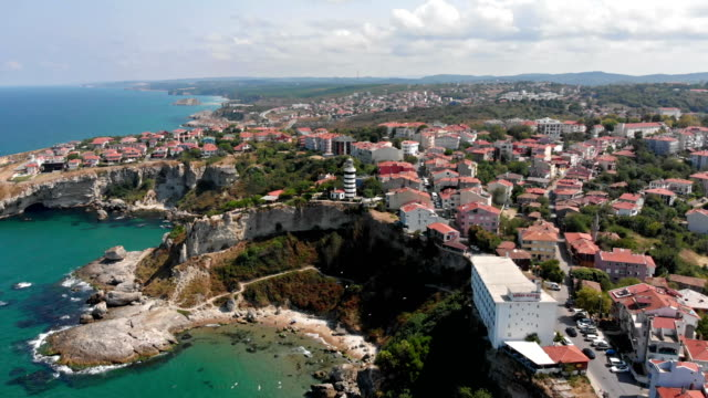 aerial view of sile (şile) in istanbul, turkey - istanbul stock videos & royalty-free footage