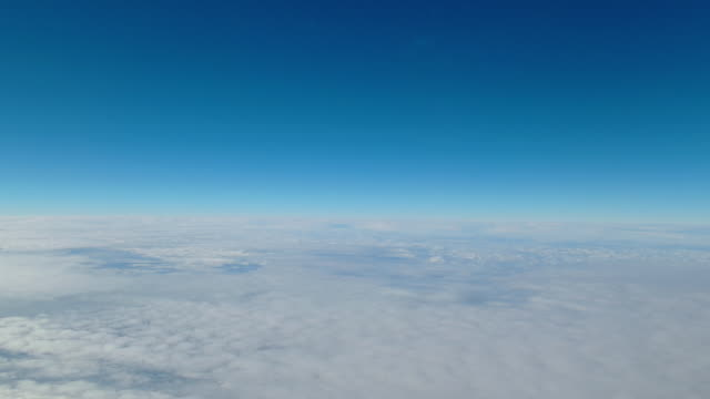 Aerial view of sky and clouds.
