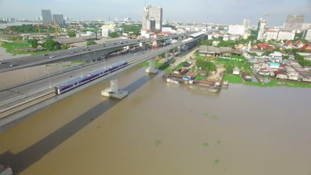 Vue aérienne de Sky Trian Messe transport en commun de Bangkok, en Thaïlande