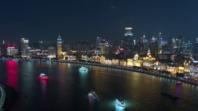 aerial view of skyscraper in shanghai,footage shoot by drone - lujiazui stock videos & royalty-free footage