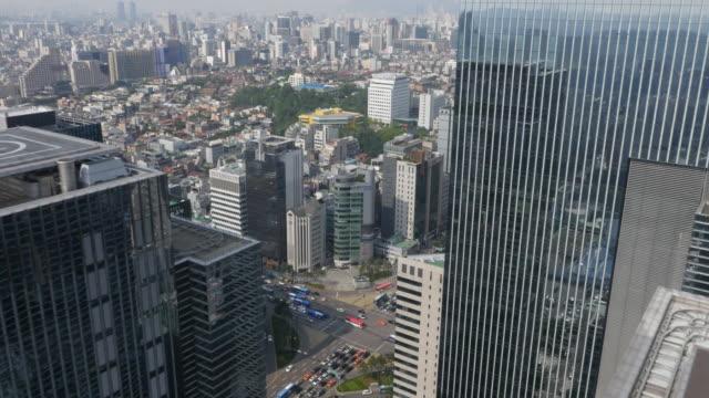 Aerial view of skyscrapers at Teheranno Street (Korean Silicon Valley)