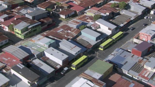 aerial view of slum in san jose, costa rica - san jose costa rica stock videos & royalty-free footage