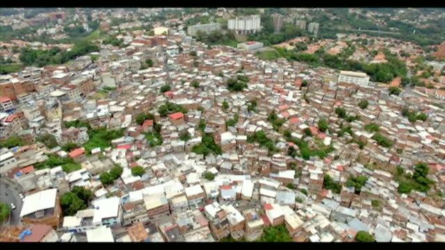 aerial view of slums in caracas, venezuela - venezuela stock videos & royalty-free footage