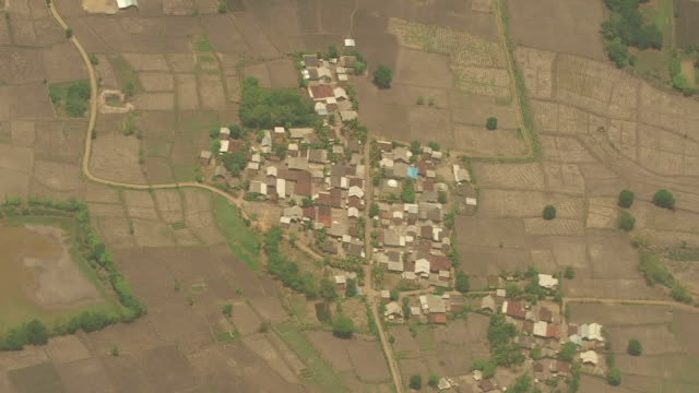 Aerial View of Small Village, Indonesia