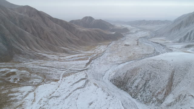 Aerial View of Snow Mountain in China
