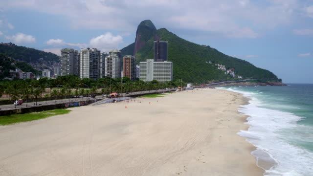 Aerial view of S��o Conrado beach at Rio de janeiro, Brazil