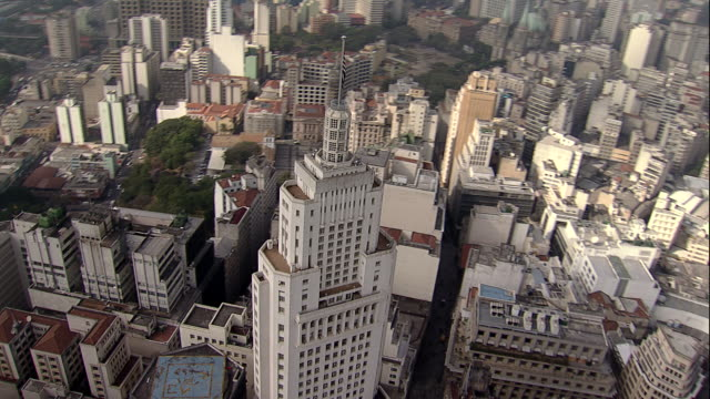 aerial view of sã£o paulo - skyline - são paulo state stock videos & royalty-free footage
