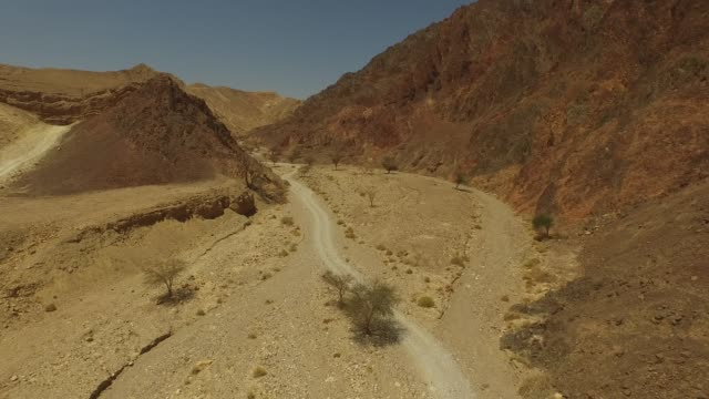 aerial view of solomon river, near the city eilat, israel. - israel stock-videos und b-roll-filmmaterial