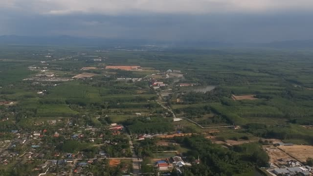 aerial view of songkhla province thailand. - songkhla province stock videos and b-roll footage