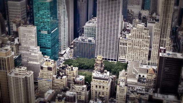 ソニービル、マンハッタン、ニューヨーク市、米国の空撮