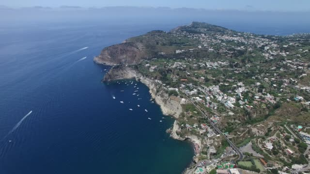 aerial view of sorrento in the state of naples, italy - mediterranean sea stock videos & royalty-free footage
