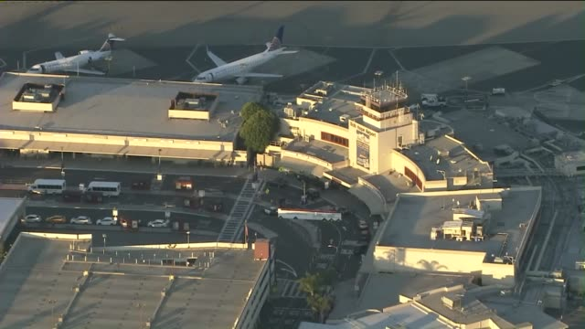 KTLA Aerial View of Southwest Airlines at Bob Hope Airport