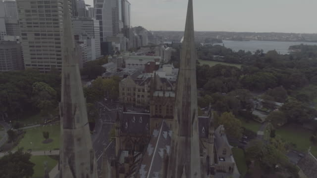 Aerial view of St Mary's Cathedral. Sydney Australia