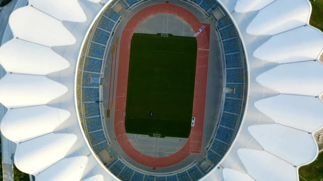 aerial view of stadium - travel destinations stock videos & royalty-free footage