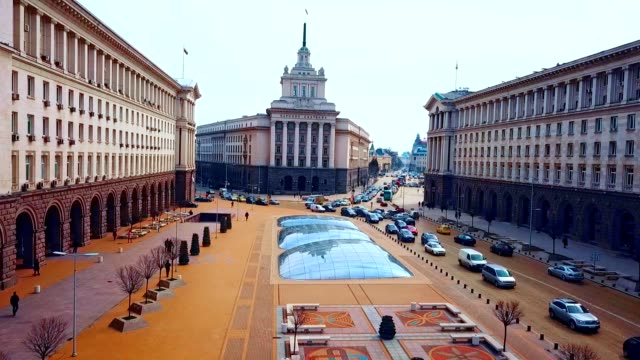 aerial view of statue of sveta sofia / sofia - bulgaria - eastern european culture stock videos & royalty-free footage