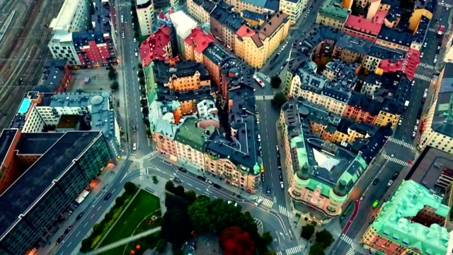 stockvideo's en b-roll-footage met luchtfoto van stockholm-zweden - home economics
