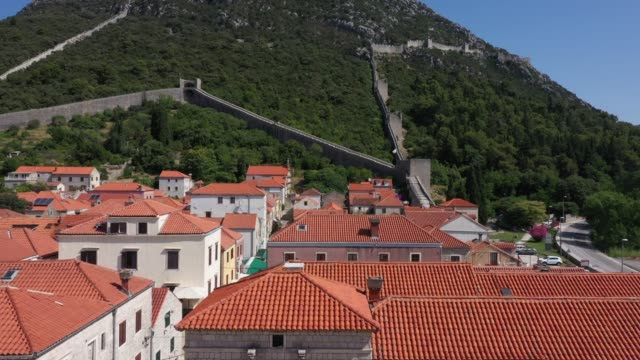 aerial view of ston city, dubrovnik-neretva, croatia - croatia stock videos & royalty-free footage