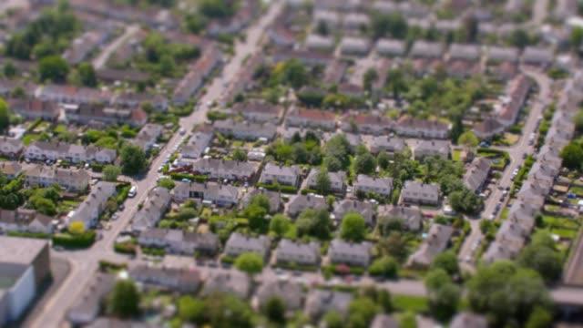 Aerial View of Suburban Houses in London, UK. 4K
