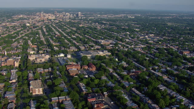 aerial view of suburban housing development, richmond, virginia, united states of america. - バージニア州 リッチモンド点の映像素材/bロール