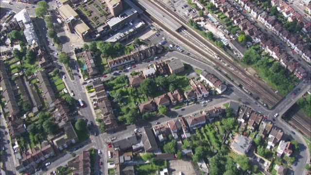 Aerial view of suburban London
