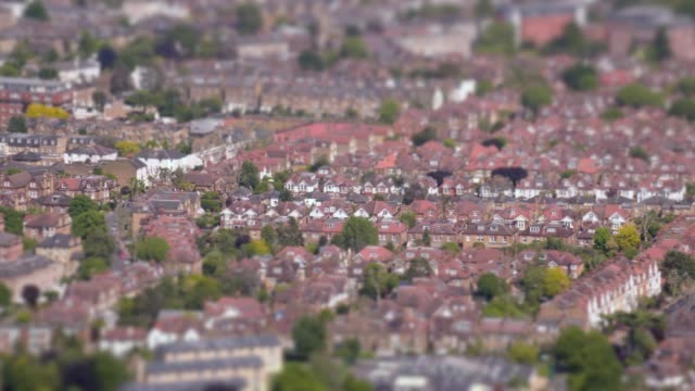 aerial view of suburban victorian houses in london, uk. 4k - suburban stock videos & royalty-free footage