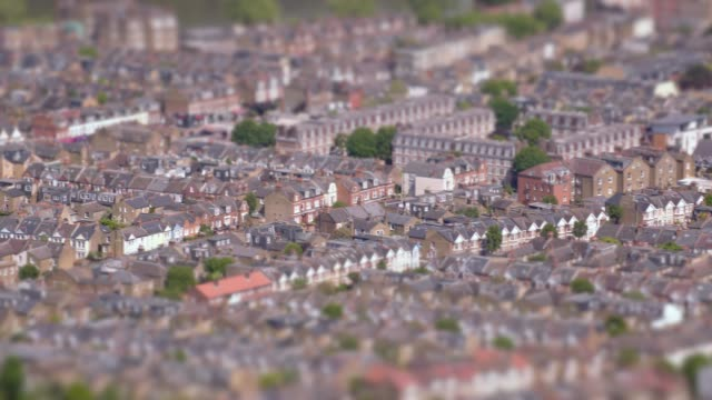 aerial view of suburban victorian houses in london, uk. 4k - 19th century style stock videos & royalty-free footage
