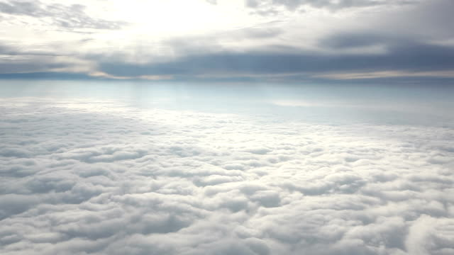 Aerial View of Sunny Clouds