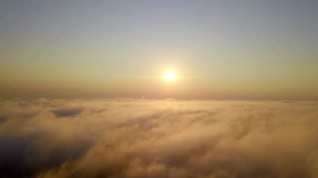 aerial view of sunrise clouds from the sky - stratosphere stock videos & royalty-free footage