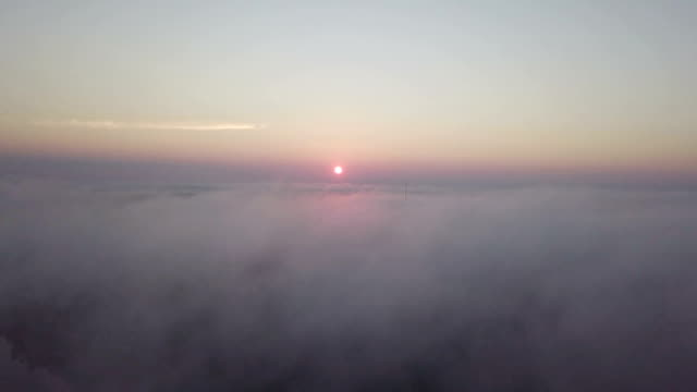 aerial view of sunrise clouds from the sky - motorway junction stock videos & royalty-free footage