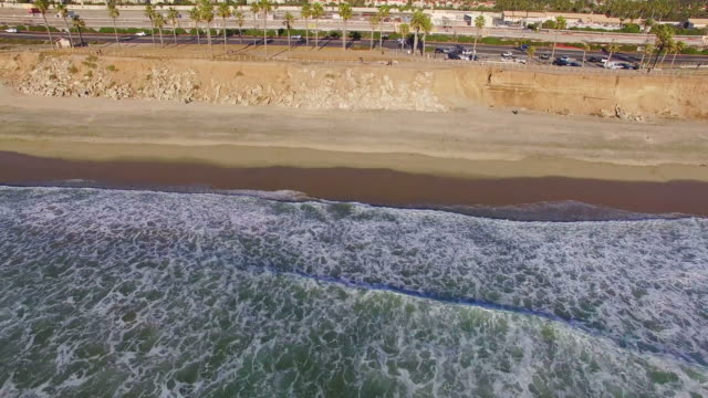 aerial view of sunset beach in huntington - huntington beach california stock videos and b-roll footage