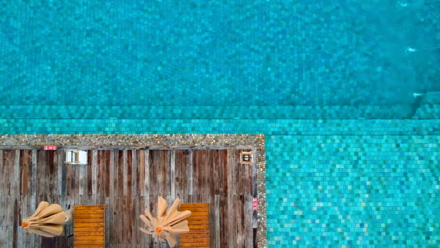 aerial view of swimming pool - tourist resort stock videos and b-roll footage