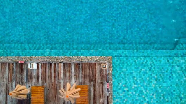 Luftaufnahme des Schwimmbad