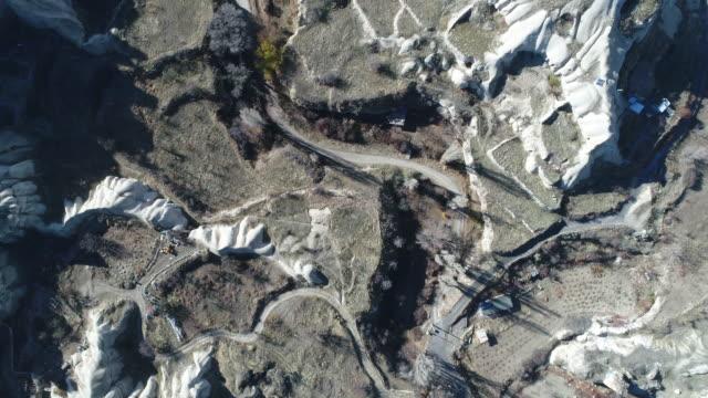 カッパドキアの剣谷の空撮 - 景勝地点の映像素材/bロール