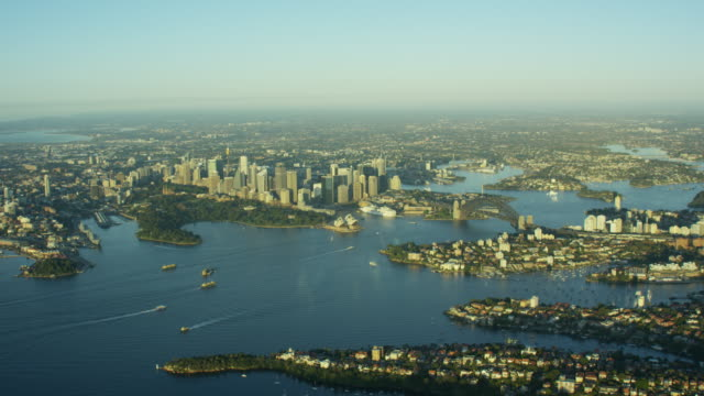 aerial view of sydney australia nsw - ferry stock videos & royalty-free footage