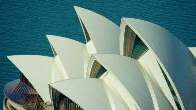 aerial view of sydney opera house australia - opera house stock videos & royalty-free footage
