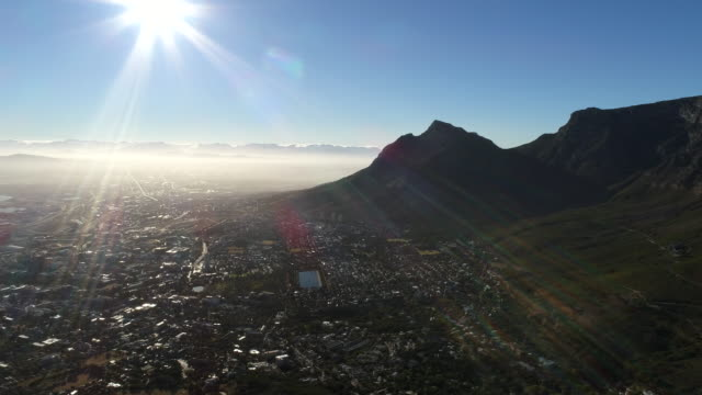 Aerial view of Table mountain and surroundings