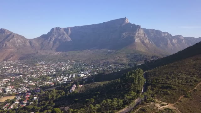 Aerial view of Table Mountain, Cape Town, South Africa