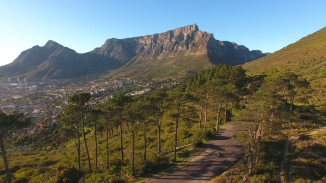 Aerial view of table mountain, cape town